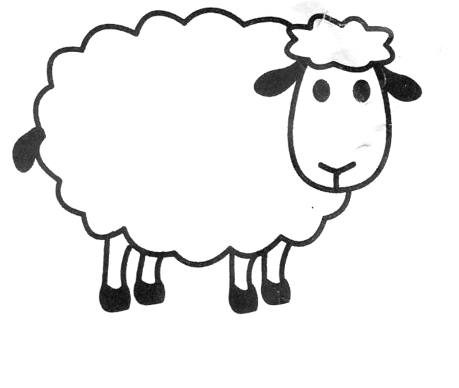Sheep templates printable clipart best for Lamb cut out template