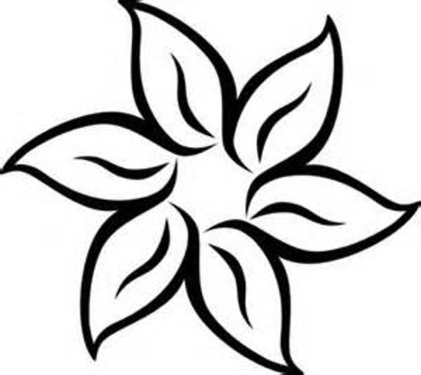 Clip Art Flowers And Butterflies Black White Free Reference
