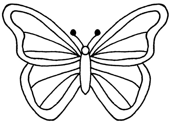 Butterfly Designs Artists Coloring Book : Butterfly Outline Template ClipArt Best