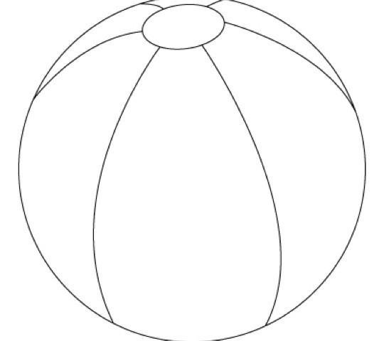 Beach Ball Stencils - ClipArt Best