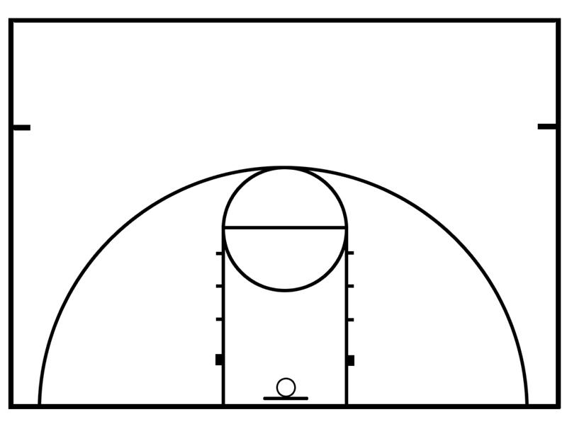 blank badminton court
