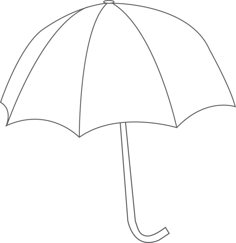 Printable Raindrop Template on Coloring Page Of An Umbrella With Raindrops