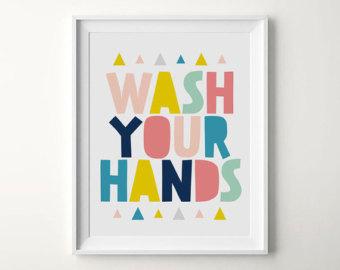 Kids Bathroom Art Etsy Clipart Best Clipart Best