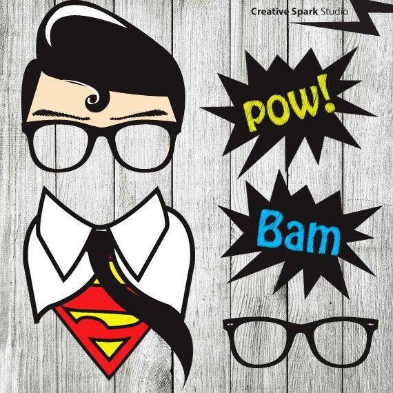 Striking image in free printable superhero photo booth props
