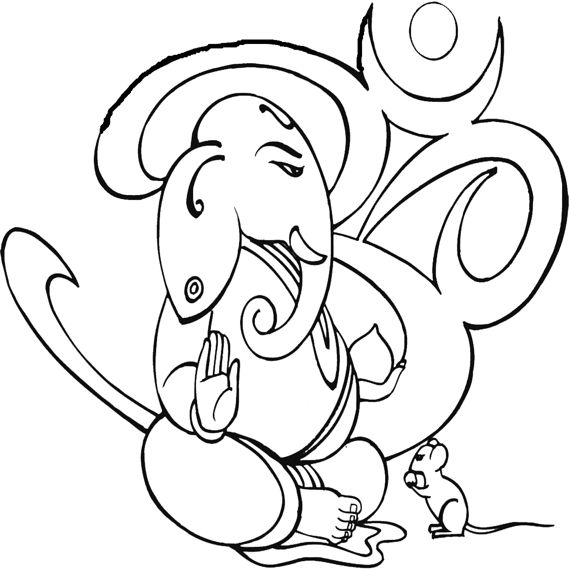 Ganesh Line Drawing : Ganesh line drawing clipart best