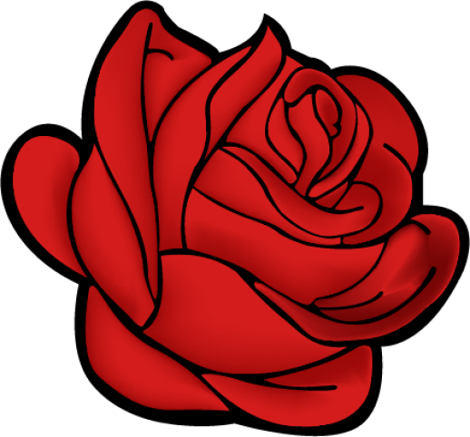 Red Rose Vector AI Free Graphics