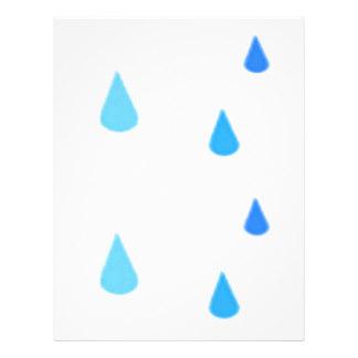 Raindrop Letterhead, Custom Raindrop Letterhead Templates