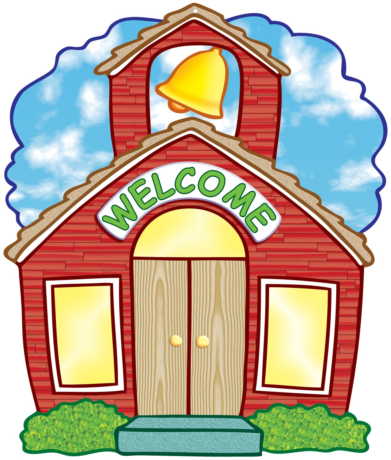 Schoolhouse Welcome Two-Sided Accent - ClipArt Best ...
