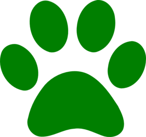 Green Paw Print clip art - vector clip art online, royalty free ...