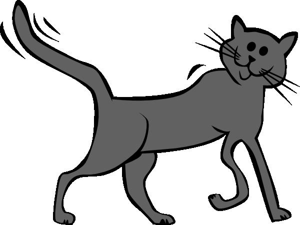 Cat running clipart