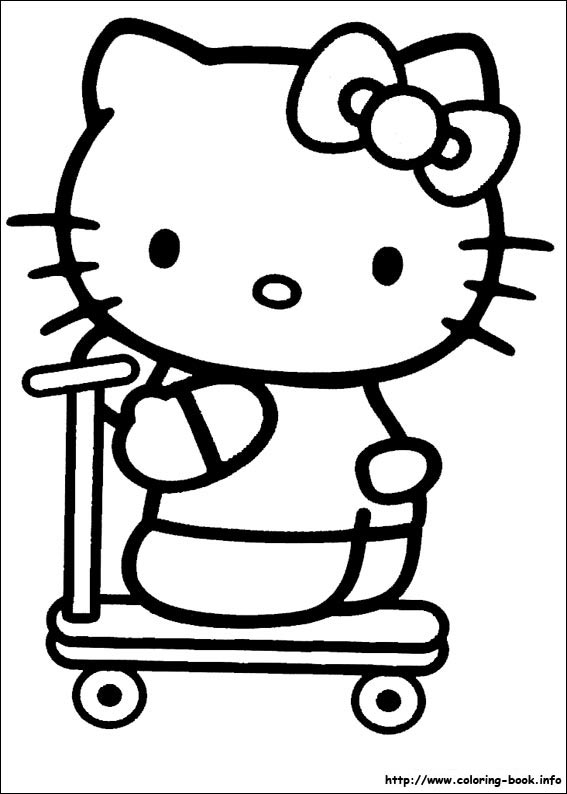 Hello Kitty Coloring Pages On Coloring-Book.info - ClipArt Best - ClipArt  Best