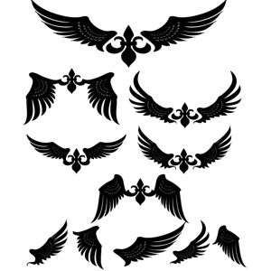 Tribal Wings Tattoos Design | Vector & Clipart Free ...