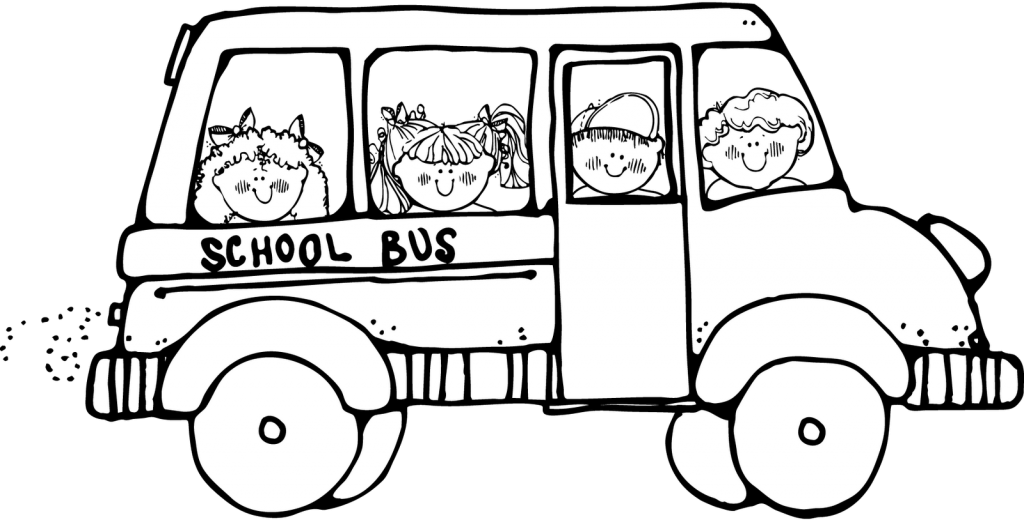 School Bus Clip Art Black And White - ClipArt Best