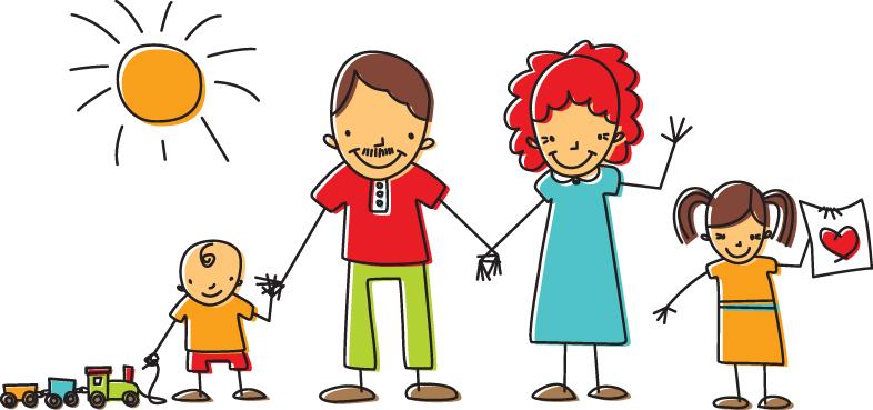 Family Cartoon of 7 Cartoon Family Pics