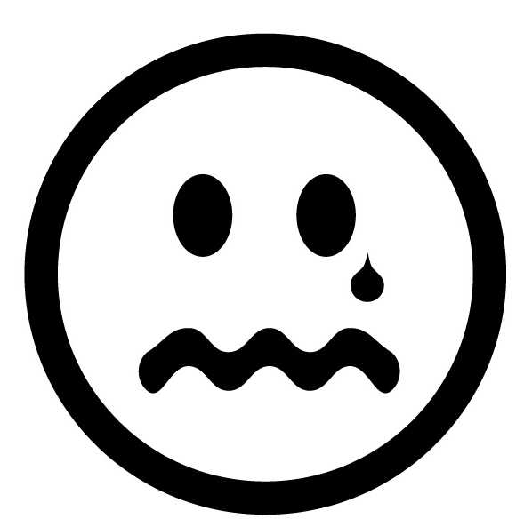 Sad Face Clipart Black And White - Free Clipart Images