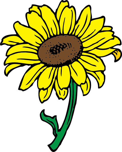 11 cartoon sunflower free cliparts that you can download to you ...