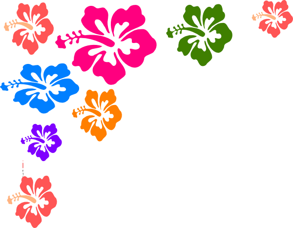 Hibiscus Flower Border Clip Art - ClipArt Best