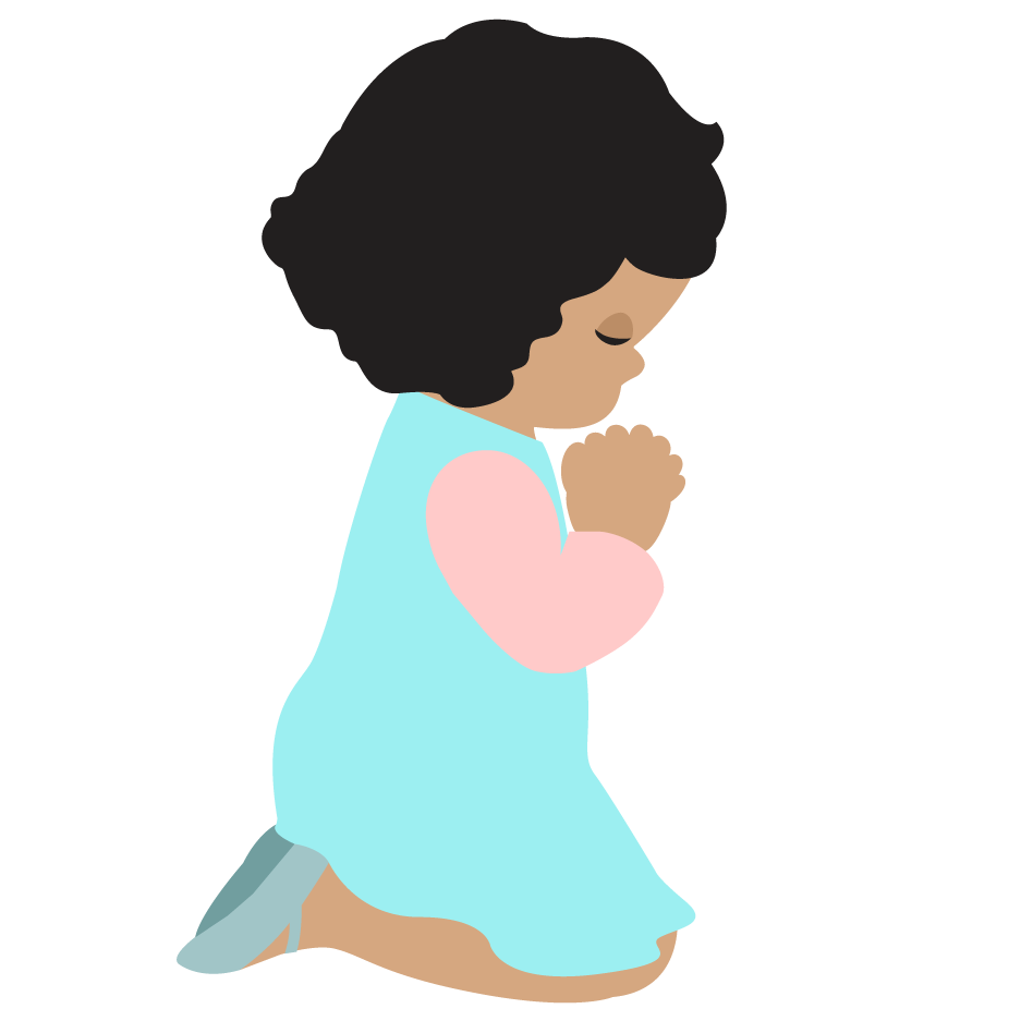 children praying clipart - photo #10