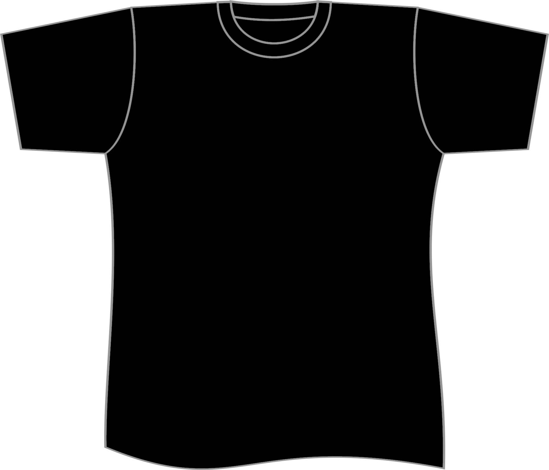 Plain T-shirt White Template - ClipArt Best
