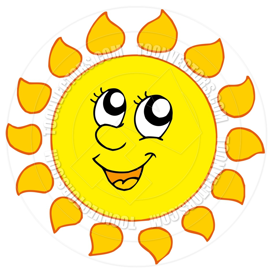 Cartoon smiling sun clipart panda free clipart images