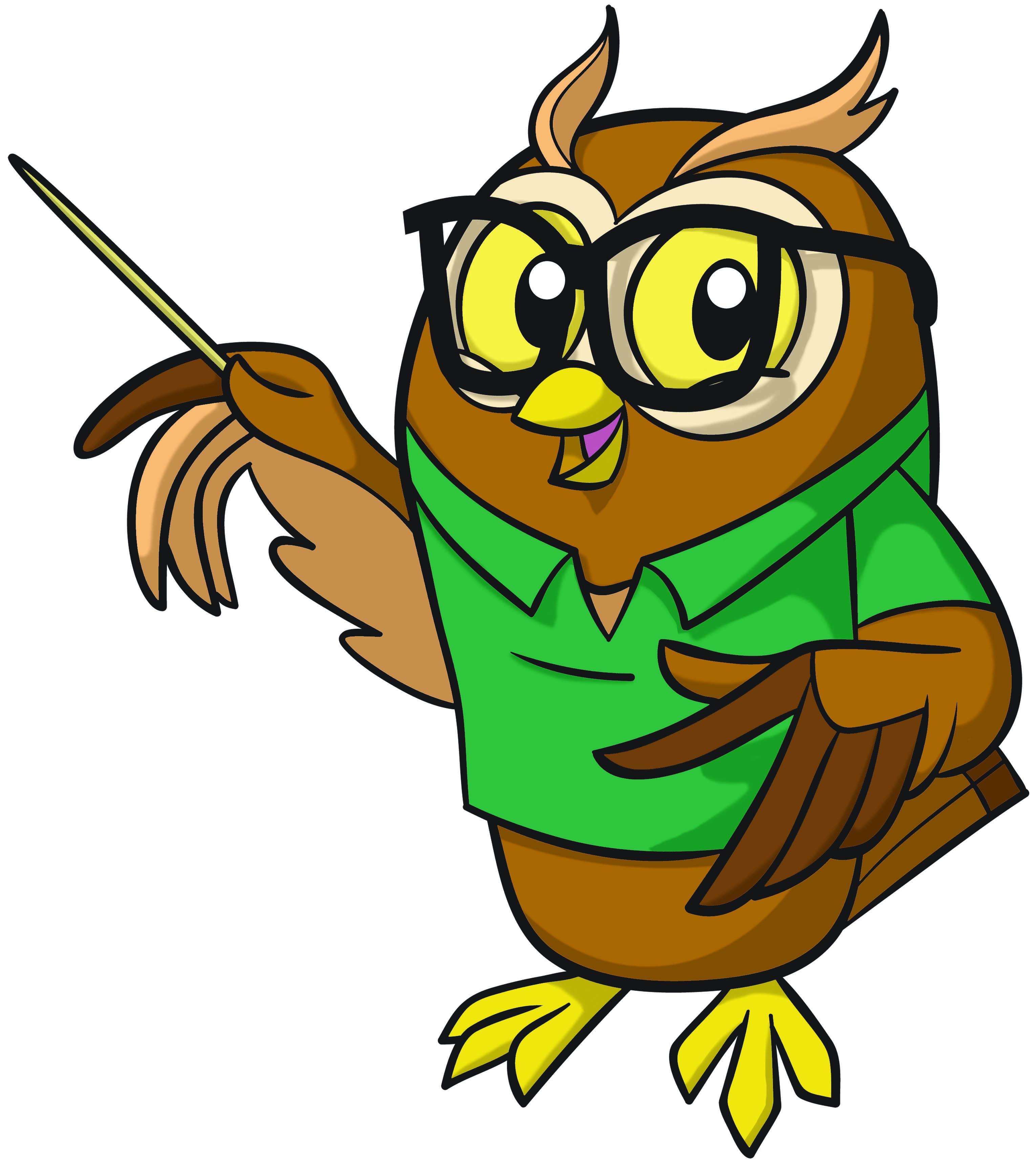 Owl Cartoon Teaching - ClipArt Best