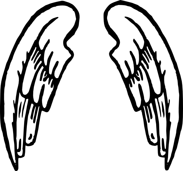 free angel wings coloring pages - photo#2