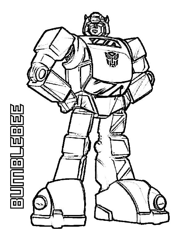 Bumblebee Transformer Coloring Pages Printable - ClipArt Best