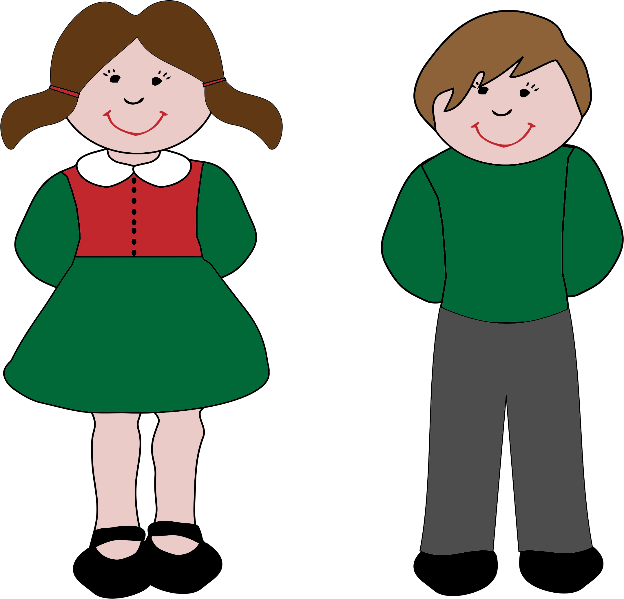 Clipart boy and girl