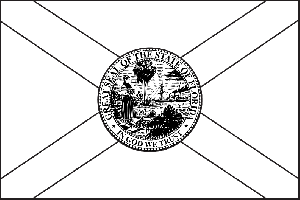 Florida State Flag Coloring Page Clipart Best Florida State Flag Coloring Page