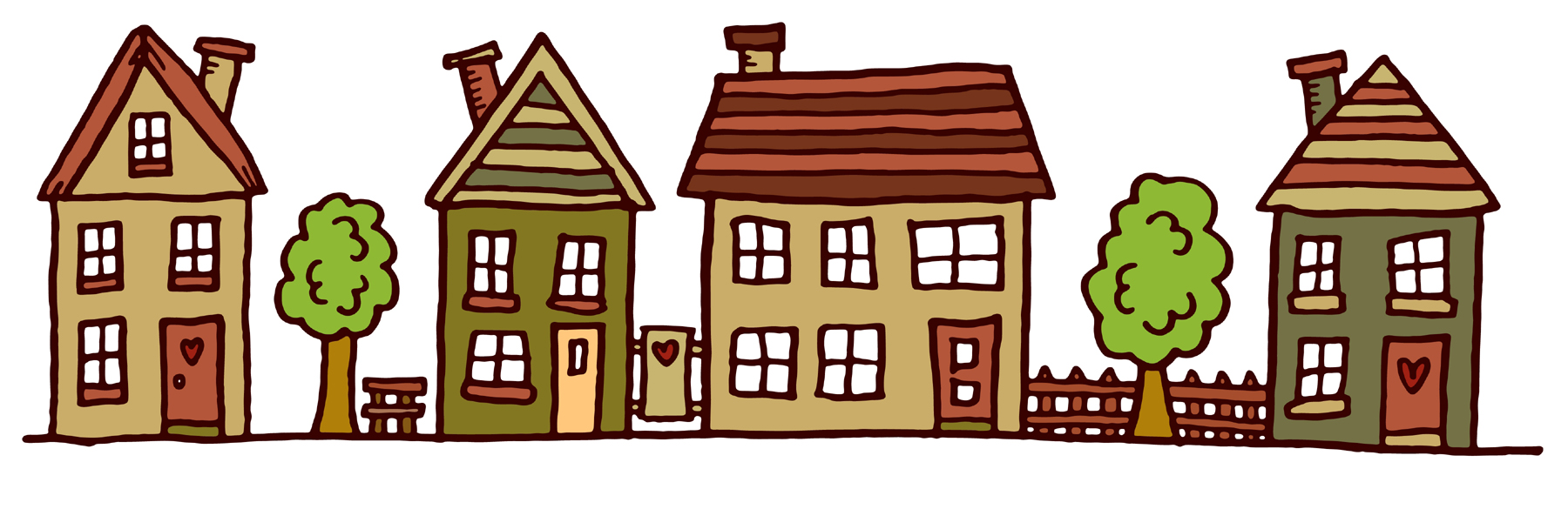 Images Of Houses In A Row - ClipArt Best