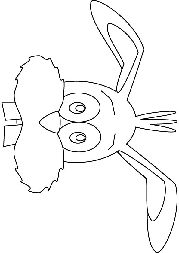Coloring pages easter bunny face