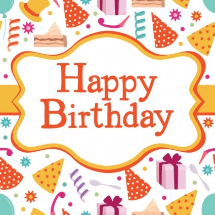 Birthday card 04 vector Free vector in Encapsulated PostScript eps ...