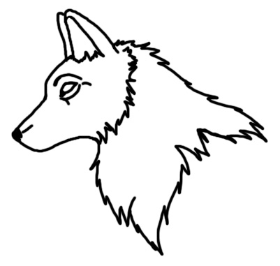Outline Of Wolf Face - ClipArt Best