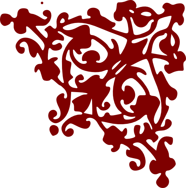 Red scroll border clip art clipart best for Transparent top design