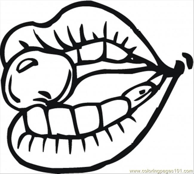 Mouth Coloring Page - Ultra Coloring Pages | 583x650
