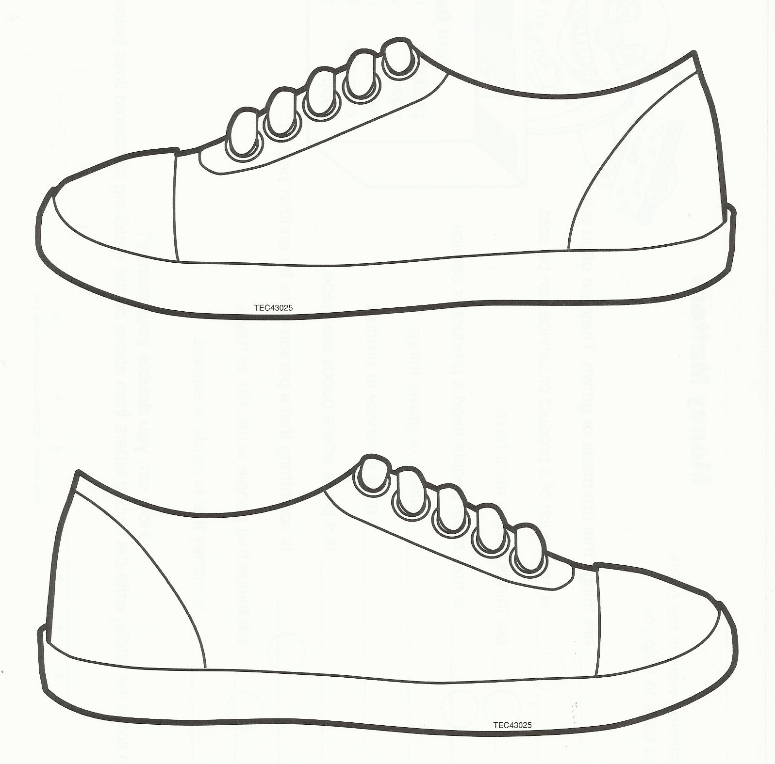 Sneakers Shoes Coloring Coloring - ClipArt Best
