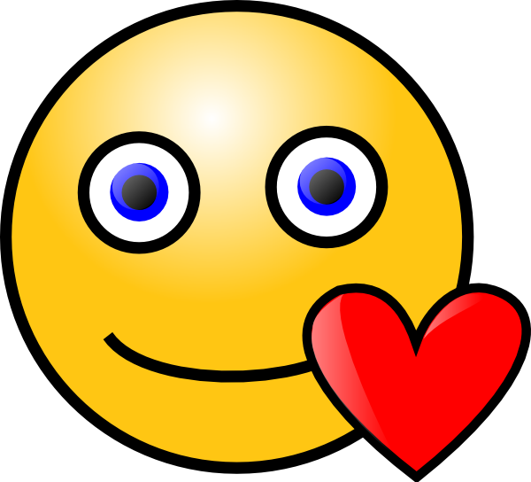 Happy Face Heart - ClipArt Best