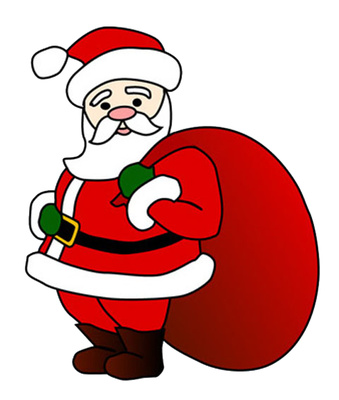 Cartoon Santa Claus Clip Art Christmas Gift Bag | Just ...