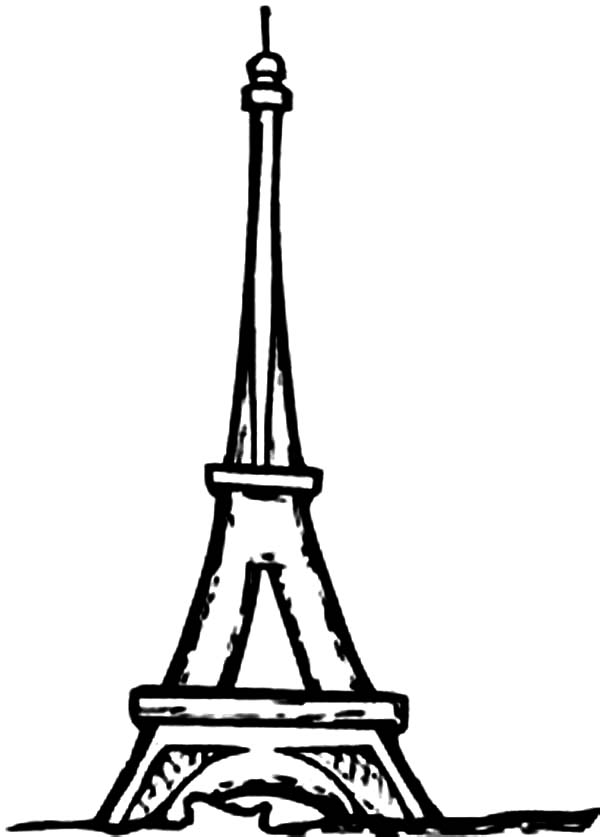 france coloring pages eiffel tower - France Eiffel Tower Coloring Page