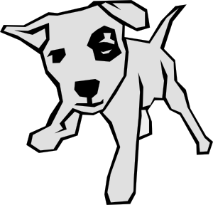 Dog 03 Drawn With Straight Lines clip art - vector clip art online ...