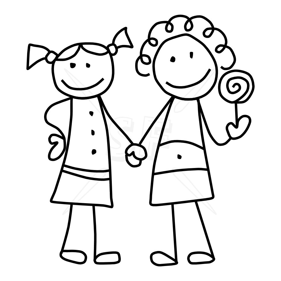 Clipart of best friends