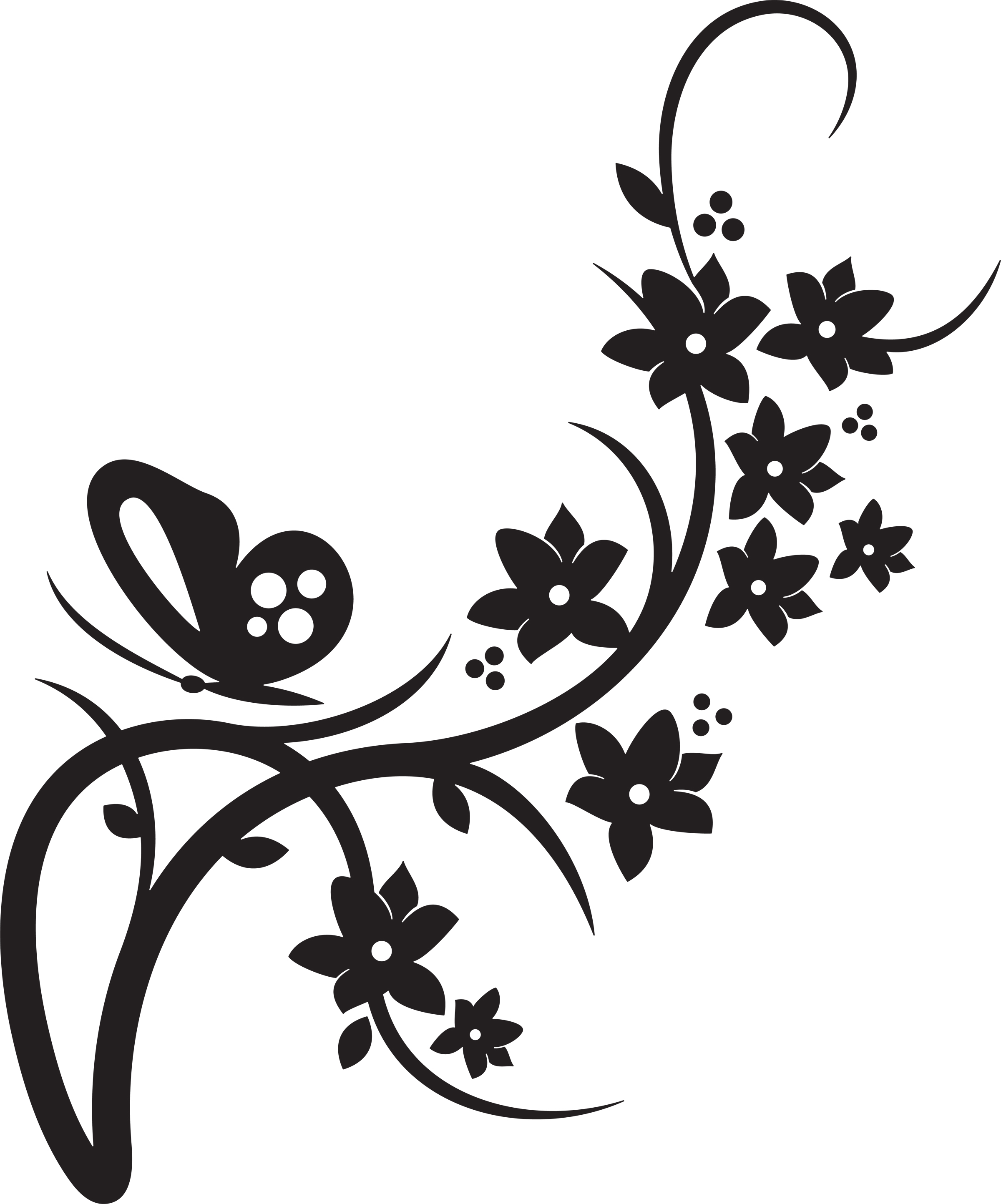 Butterfly drawings black and white clipart best for Autocollant mural