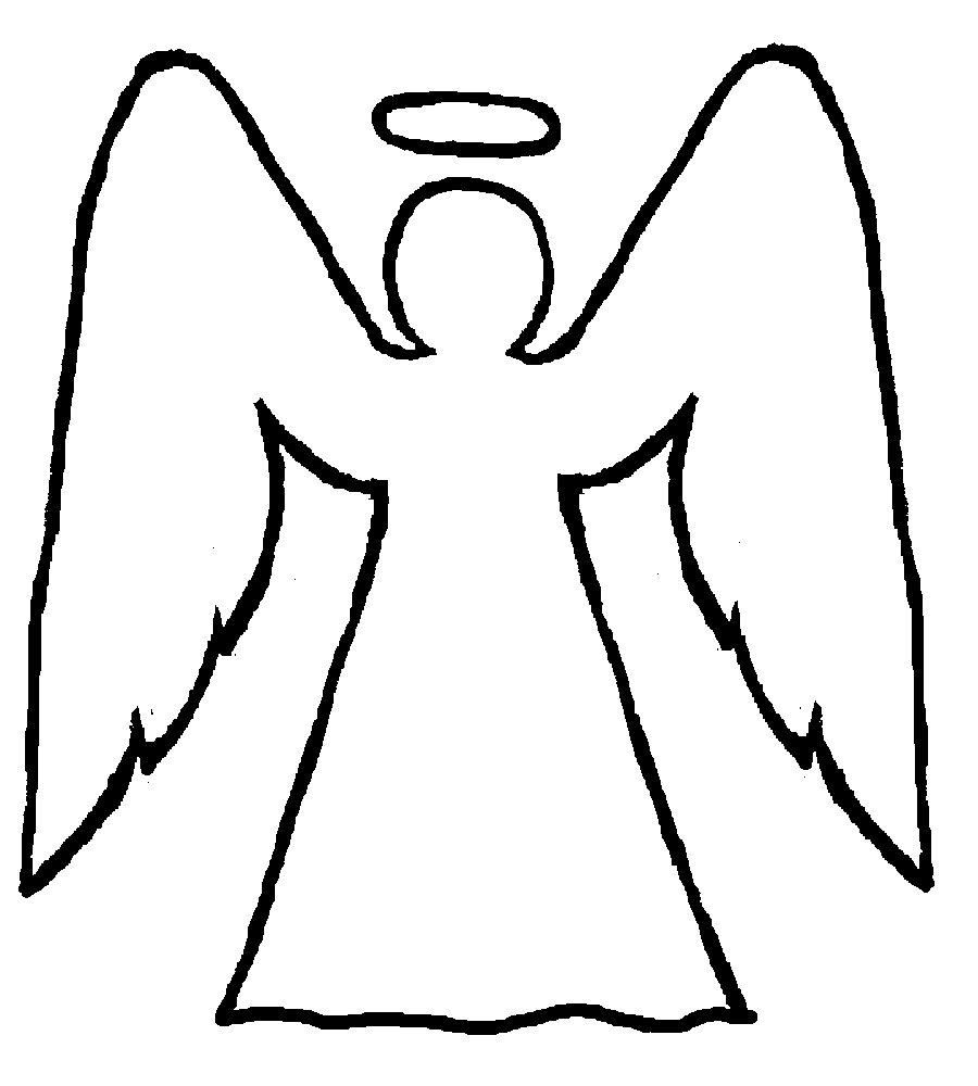 Line Drawing Angel : Line drawings of angels clipart best