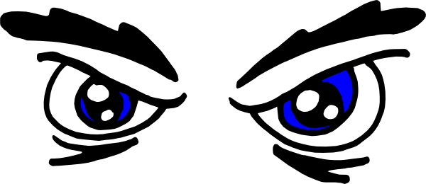 Angry Eyes clip art Free Vector