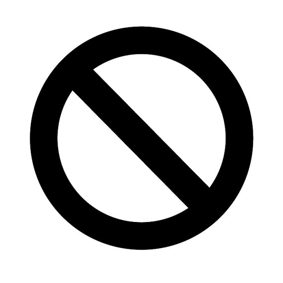 No No Circle Stop Cross Out Sign Logo Vinyl Decal by airetdesigns ...