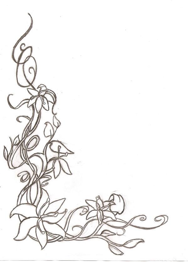 Annabella 67 Art Line Design : Black floral corner border clipart best