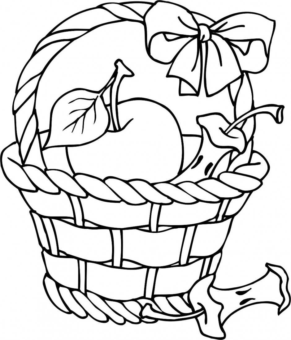 Free Printable Coloring Page Apple Picking Clipart Best