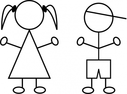Boy And Girl Stick Figure Clipart