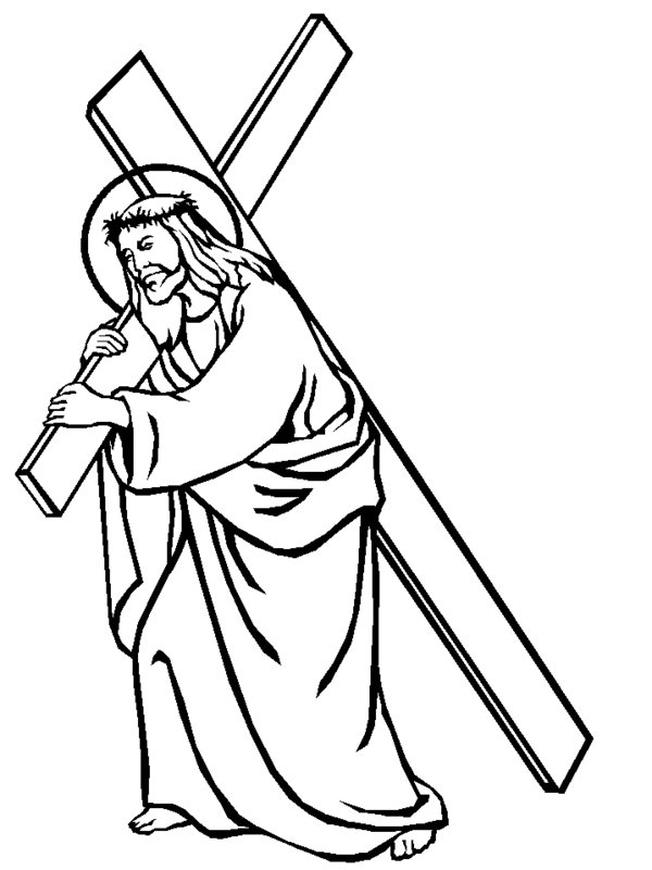 Jesus Carries The Cross Coloring Pages Picture 8 ...