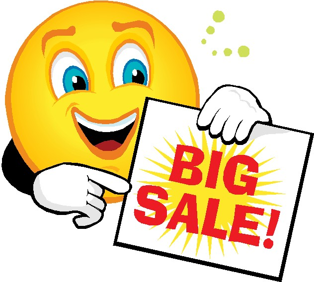 Computer Sales This Weekend: Book Sale Clip Art